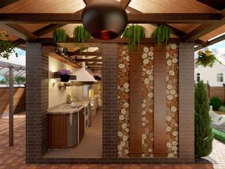 Ландшафтный дизайн Кухня в классическом стиле от Москоу Дизайн Классический
