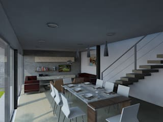 CASA CENTENO: Comedores de estilo moderno por CCA|arquitectos