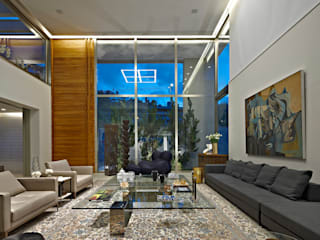 Living room by Lanza Arquitetos, Modern