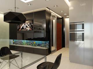 Apartament, pow. 100 m2, Nadmorski Dwór, Invest Komfort, Gdańsk Nowoczesny salon od 3miasto design Nowoczesny
