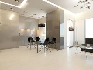Apartament, pow. 100 m2, Nadmorski Dwór, Invest Komfort, Gdańsk: styl , w kategorii Salon zaprojektowany przez 3miasto design