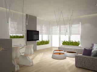 Apartment pow. 114 m2, Kepa Redłowska, Gdynia Nowoczesny salon od 3miasto design Nowoczesny