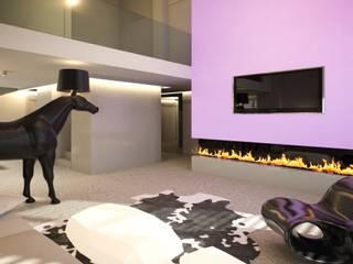 Loft, pow. 100 m2, Hossa, Gdańsk Nowoczesny salon od 3miasto design Nowoczesny