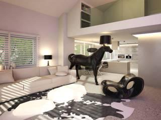 Loft, pow. 100 m2, Hossa, Gdańsk: styl , w kategorii Salon zaprojektowany przez 3miasto design