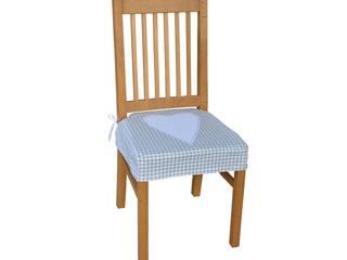 siedzisko na krzesło z sercem szara krateczka: styl , w kategorii  zaprojektowany przez Drewniany Guzik