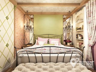 Спальня в стиле гранж: Спальни в . Автор – Interior Design Studio Tut Yut