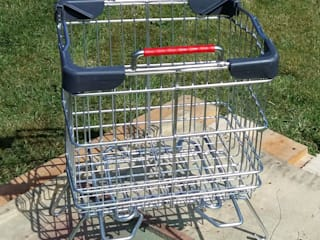Trolley Waste Basket:   by KT Metal Design