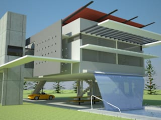 Vivienda suspendida Casas modernas: Ideas, imágenes y decoración de Arq. Jose F. Correa Correa Moderno