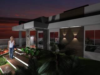 RESIDENCIA J.M: Casas  por Daiana Pasqualon Arquitetura & Lighting