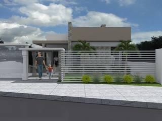 RESIDENCIA D.M: Casas  por Daiana Pasqualon Arquitetura & Lighting