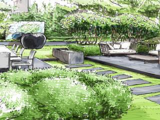 Erweiterung vom Lebensraum nach Aussen: modern  von Ecologic City Garden - Paul Marie Creation,Modern