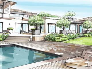 Aussenanlage in Saint Tropez - Côte d´Azur: modern  von Ecologic City Garden - Paul Marie Creation,Modern
