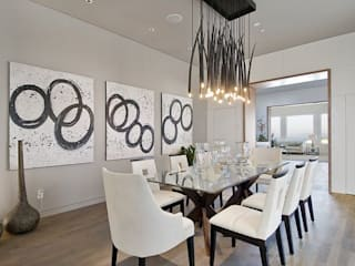 Waterfall Estate Ideas GSI Interior Design & Manufacture Minimalist dining room Grey