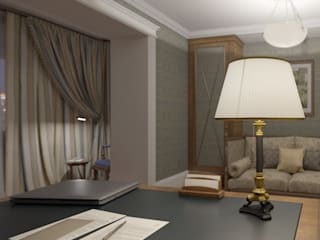 Classic style study/office by Aleksandra Kostyuchkova Classic