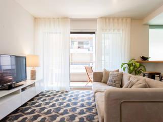 Apartamento c/ 1 quarto - Belém, Lisboa Salas de estar modernas por Traço Magenta - Design de Interiores Moderno