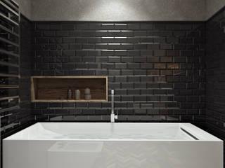 Квартира в современном стиле для хоостяка с элементами лофт-стилистики: Ванные комнаты в . Автор – Oh, Boy! Интерьеры с мужским характером