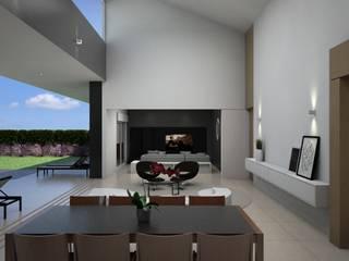 Projeto Residencial T FJR Salas de estar modernas por Trí Arquitetos Moderno
