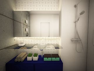 Apê FR - Maxhaus: Banheiros  por Estúdio Ventana