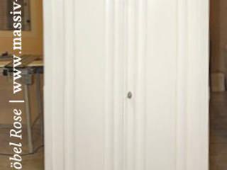 Dielenschrank 2-türig mit Schubladen und Einlegeböden von Massiv aus Holz Landhaus Holz Holznachbildung