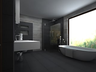 Modern Bathroom by A Mans Creation Modern