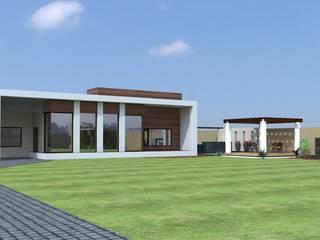 exterior 3d Modern houses by A Mans Creation Modern