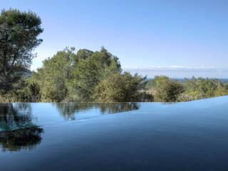 Casa del Agua: Piscinas de estilo  de MG&AG.ARQUITECTOS