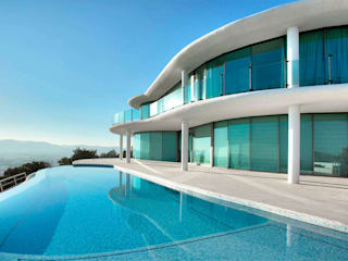 Casa Nube: Piscinas de estilo  de MG&AG.ARQUITECTOS