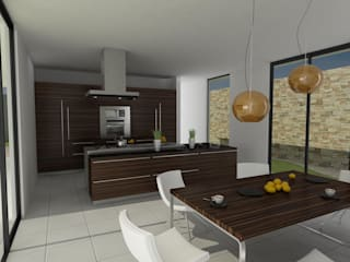 John Robles Arquitectos Modern kitchen