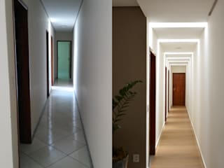 CARDOSO CHOUZA ARQUITETOS Ingresso, Corridoio & Scale in stile moderno Legno