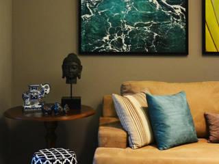 Detalhes sala de estar: Salas de estar  por CARDOSO CHOUZA ARQUITETOS