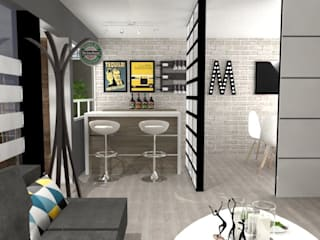Eclectic style dining room by AurEa 34 -Arquitectura tu Espacio- Eclectic
