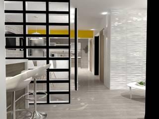 Eclectic style corridor, hallway & stairs by AurEa 34 -Arquitectura tu Espacio- Eclectic