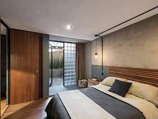 MX Taller de Arquitectura & Diseño Industriale Schlafzimmer Beton Grau