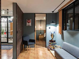 MX Taller de Arquitectura & Diseño Koridor & Tangga Gaya Industrial