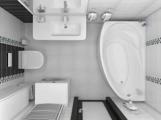 Дизайн квартиры 38 м.кв Ванная комната в стиле минимализм от Дизайн студия Жанны Ращупкиной Минимализм