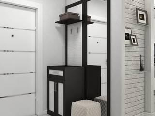 Дизайн квартиры 38 м.кв Коридор, прихожая и лестница в стиле минимализм от Дизайн студия Жанны Ращупкиной Минимализм