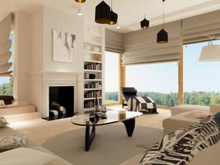 Salones de estilo moderno de Modify- Architektura Wnętrz Moderno
