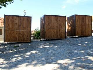 Quiosque : Escritórios e Espaços de trabalho  por Lousinha Arquitectos,Rústico