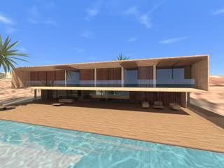 Casa Luanda: Terraços  por Lousinha Arquitectos,Moderno