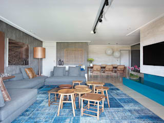 Ruang Keluarga Modern Oleh Studio Eloy e Freitas Arquitetura e Interiores Modern