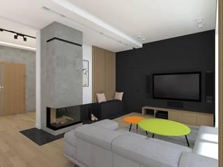 Salon: styl , w kategorii Salon zaprojektowany przez Free Form Pracownia Architektoniczna