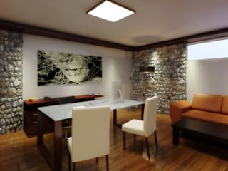 Рабочий кабинет в стиле минимализм от arquitecto9.com Минимализм
