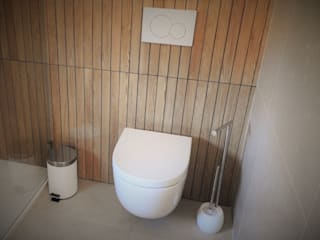 CASA HEITOR: Casas de banho  por Jesus Correia Arquitecto,Moderno