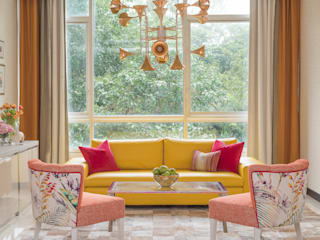 Happy Chic Living Apartment Design Intervention Modern living room Yellow