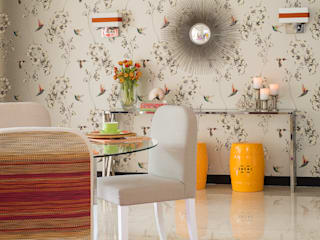 Happy Chic Living Apartment Design Intervention Modern dining room Multicolored