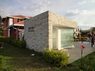 Zona social casa 41 Spa modernos de John Robles Arquitectos Moderno
