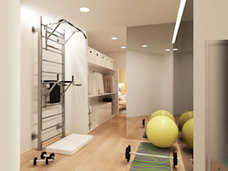 Minimalist style gym by ECOForma Minimalist Engineered Wood Transparent