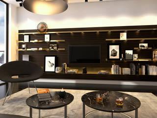 Wohnzimmer Wandgestaltung | Möbelentwurf Regalsystem INPIANO Innenarchitektur | Ina Nimmrichter Moderne Wohnzimmer
