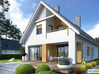 PROJEKT DOMU RIKO II G1 - nowoczesny, energooszczędny, idealny! Nowoczesne domy od Pracownia Projektowa ARCHIPELAG Nowoczesny