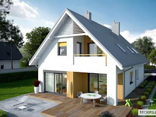 PROJEKT DOMU RIKO II G1 - nowoczesny, energooszczędny, idealny!: styl , w kategorii Domy zaprojektowany przez Pracownia Projektowa ARCHIPELAG,Nowoczesny